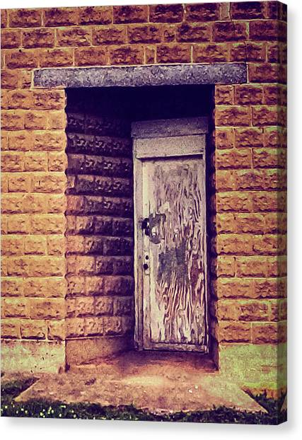 Mysterious Door Canvas Print by Denise Beverly & Mysterious Door Photograph by Denise Beverly