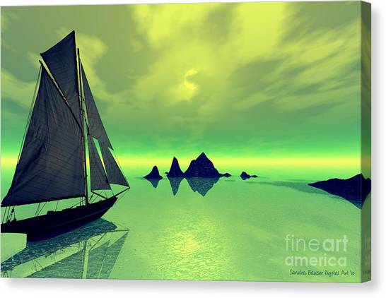 Mysterious Voyage Canvas Print by Sandra Bauser Digital Art