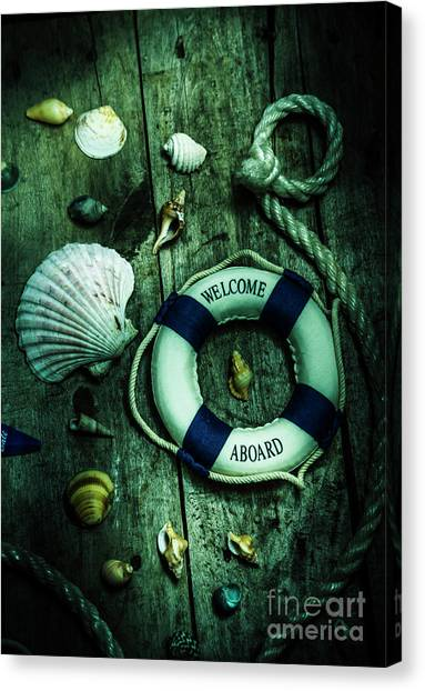 Marine Life Canvas Print - Mystery Aboard The Sunken Cruise Line by Jorgo Photography - Wall Art Gallery