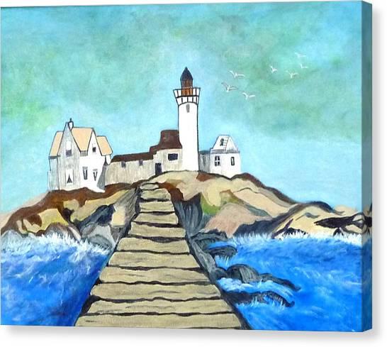 Mystery Lighthouse Canvas Print by Anke Wheeler