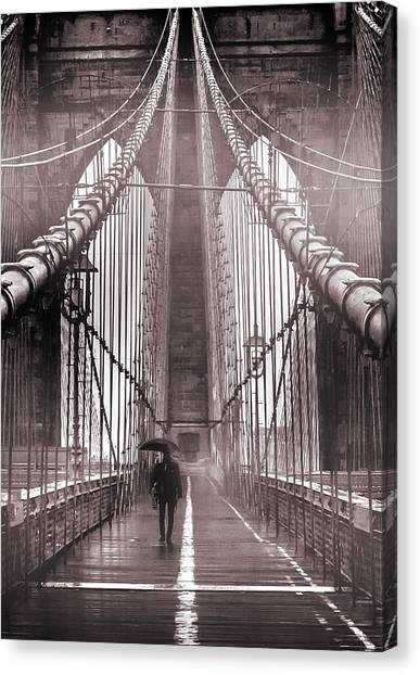 New York Skyline Canvas Print - Mystery Man Of Brooklyn by Az Jackson