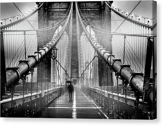 New York Skyline Canvas Print - Mystery Manhattan by Az Jackson