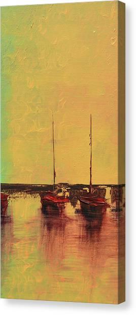 Mystic Bay Triptych 2 Of 3 Canvas Print
