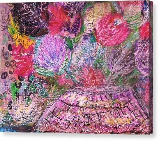 Mystic Bouquet  Canvas Print by Anne-Elizabeth Whiteway