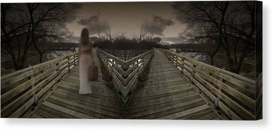 Mystic Bridge In A Dream World Canvas Print