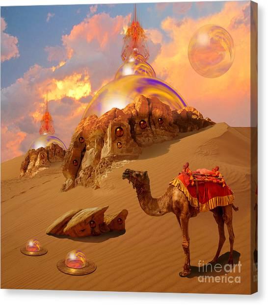 Canvas Print featuring the digital art Mystic Desert by Alexa Szlavics