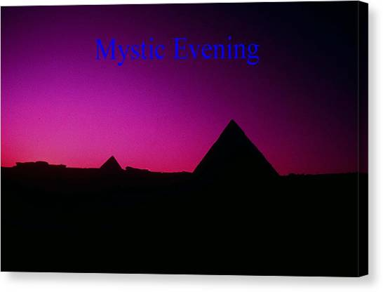 Mystic Evening Canvas Print by Gary Wonning
