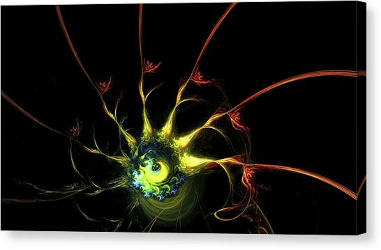 Flying Spaghetti Monster Canvas Print - Mystic Eye by Burtram Anton