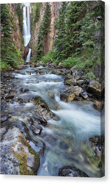 Canvas Print featuring the photograph Mystic Falls by Denise Bush