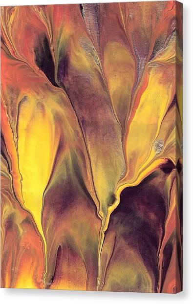 Mystic Fire 1 Canvas Print by Linda Stevenson