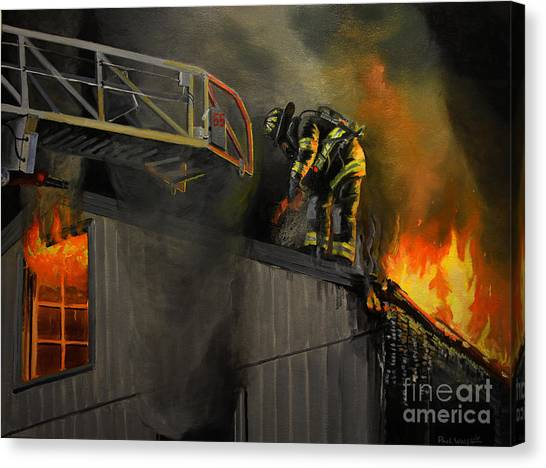 Nyfd Canvas Print - Mystic Fire by Paul Walsh
