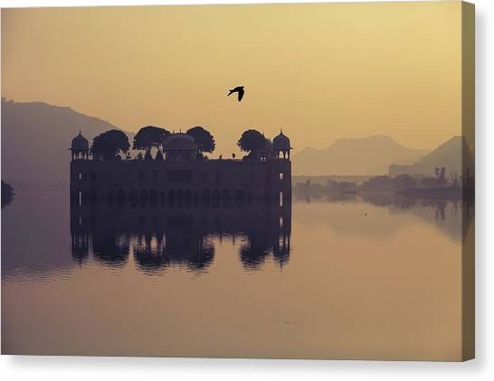 Mystic Jal Mahal, Jaipur, India Canvas Print