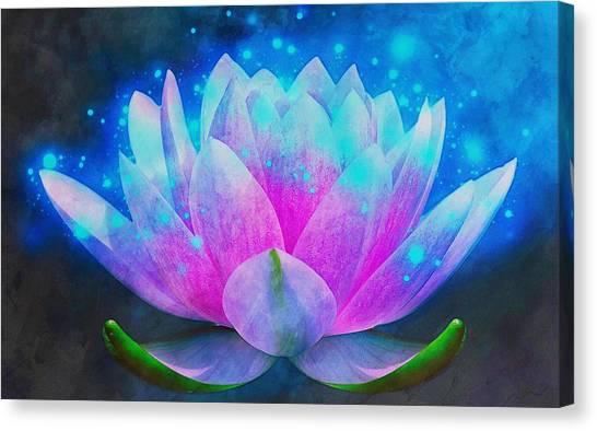 Mystic Lotus Canvas Print