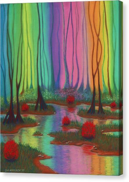 Mystic Marsh 01 Panel A Canvas Print