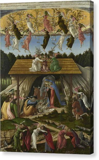 Botticelli Canvas Print - Mystic Nativity -- by Sandro Botticelli