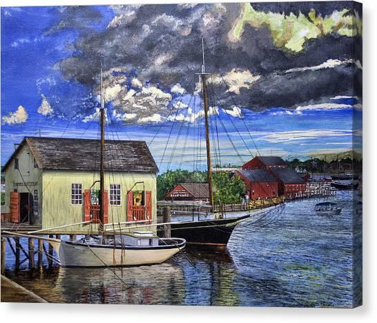 Mystic Seaport Ct Canvas Print