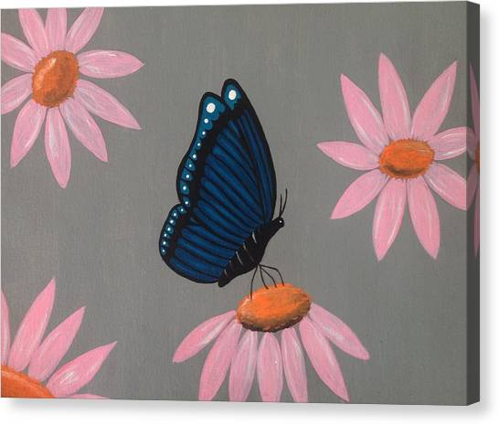 Sunflowers Canvas Print - Mystical Butterfly by Annie Walczyk