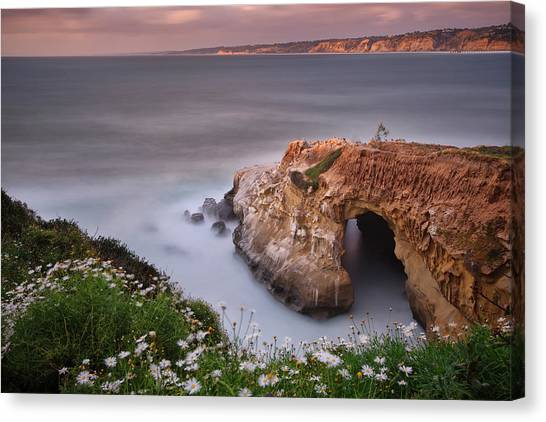 Surf Canvas Print - Mystical Cave by Larry Marshall