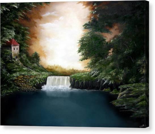 Mystical Falls Canvas Print by Ruben  Flanagan