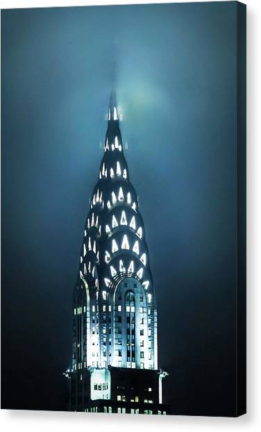 Chrysler Building Canvas Print - Mystical Spires by Az Jackson