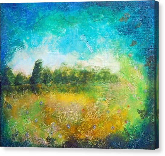 Mystical Trees Canvas Print by Joya Paul