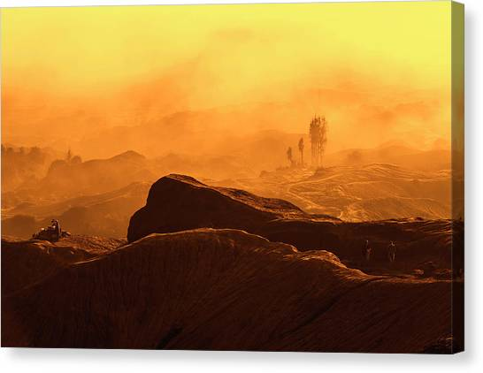 Canvas Print featuring the photograph mystical view from Mt bromo by Pradeep Raja Prints