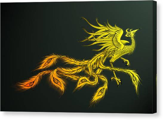 Myths Ablaze Canvas Print