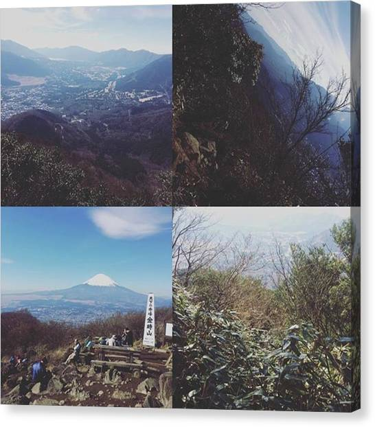 Toyota Canvas Print - この前登った #金時山 #山頂 by Toyota Fumitaka