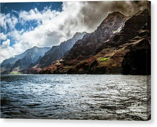 Na Pali Coast Cliffs Kauai Hawaii Canvas Print