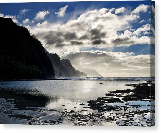 Coasts Canvas Print - Na Pali Coast Kauai Hawaii by Brendan Reals
