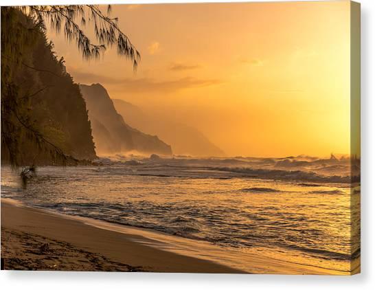 Na Pali Coast Sunset Canvas Print