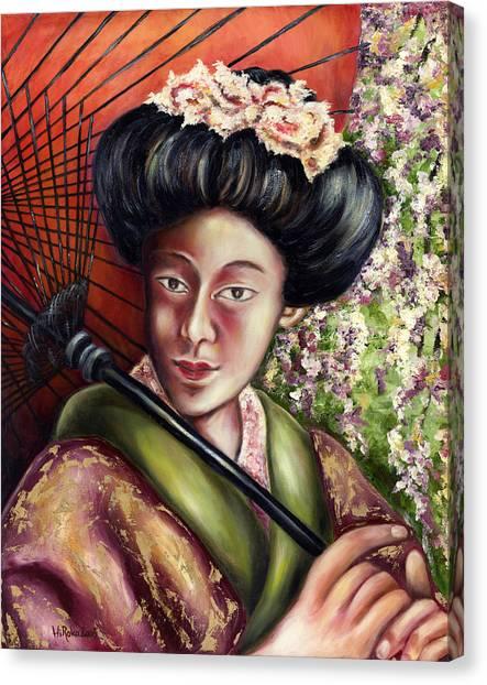 Japanese Umbrella Canvas Print - Nadeshiko by Hiroko Sakai