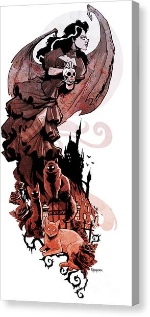 Gothic Art Canvas Print - Nadja's Flight by Brian Kesinger