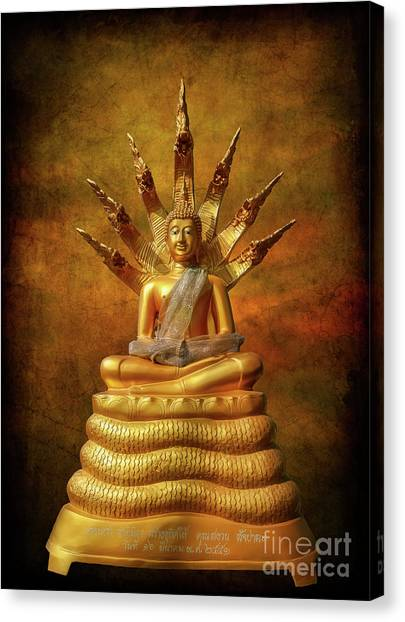 Golden Temple Canvas Print - Naga Buddha by Adrian Evans
