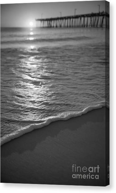 Nags Head First Light Bw Canvas Print