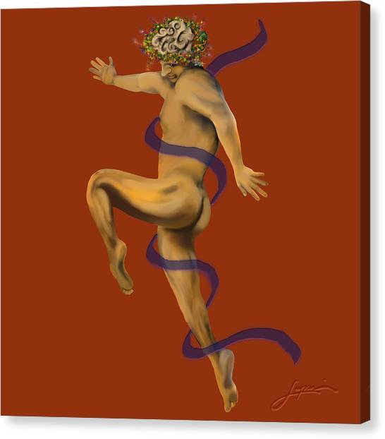 Canvas Print featuring the painting Naked Dancer #4 by Thomas Lupari