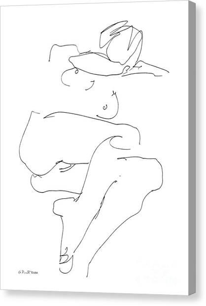 Naked-female-art-21 Canvas Print