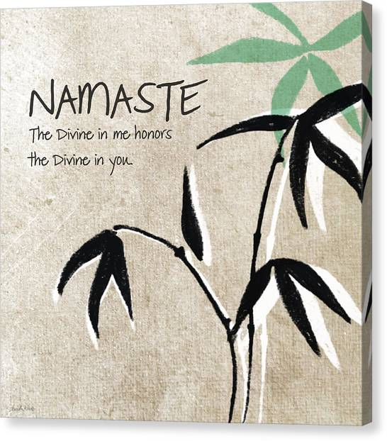 Brown Canvas Print - Namaste by Linda Woods