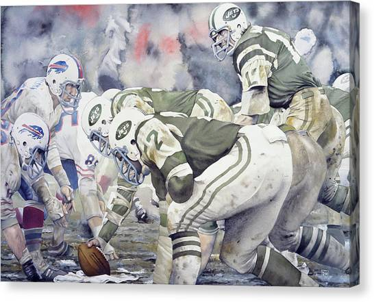 New York Jets Canvas Print - Namath by Rich Marks