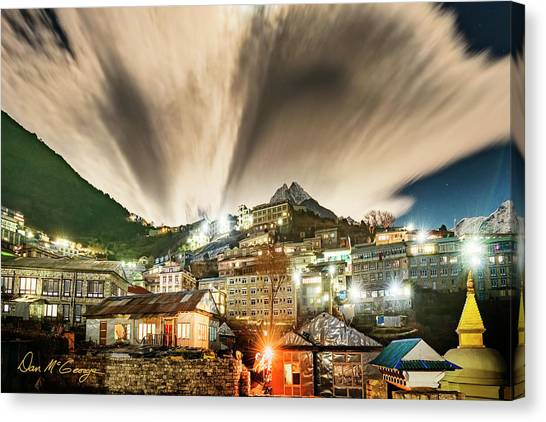 Canvas Print featuring the photograph Namche Night by Dan McGeorge