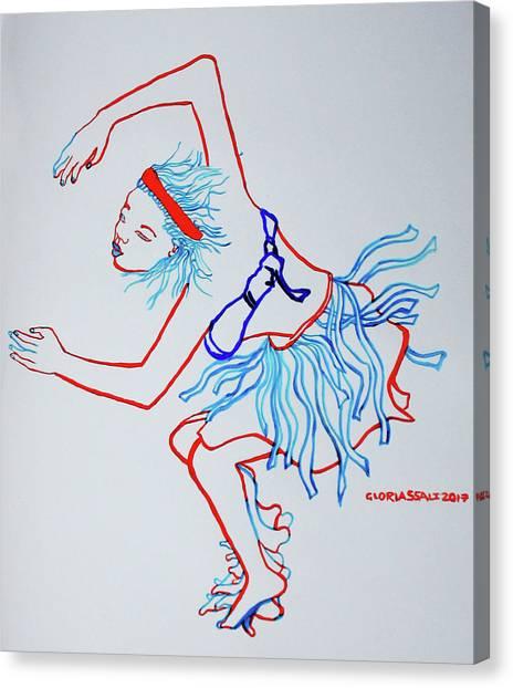 Namibian Traditional Dance Canvas Print