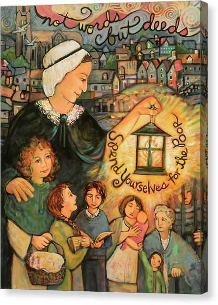 Sister Canvas Print - Nano Nagle, Foundress Of The Sisters Of The Presentation by Jen Norton