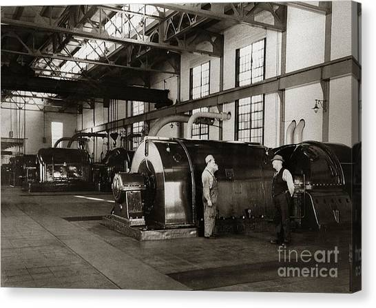 Nanticoke Pa Electrical Generators Glen Alden Mines Power Plant 1945 Canvas Print