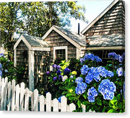 Shingles Canvas Print - Nantucket Cottage No.1 by Tammy Wetzel