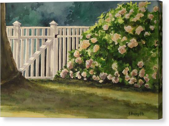 Nantucket Fence Number Two Canvas Print by Andrea Birdsey Kelly