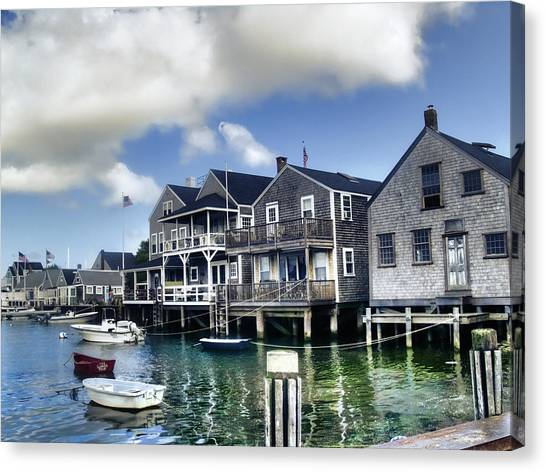 Shingles Canvas Print - Nantucket Harbor In Summer by Tammy Wetzel