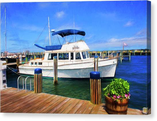 Nantucket Harbor Safe Harnor Series 52 Painted Canvas Print