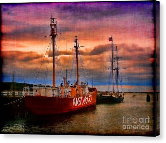 Oysters Canvas Print - Nantucket Lightship by Jeff Breiman
