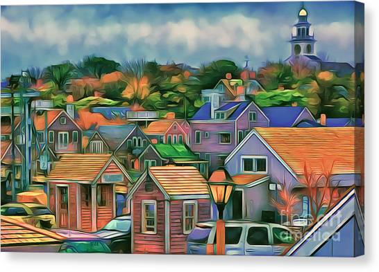 Nantucket Nestles Around The Port Canvas Print