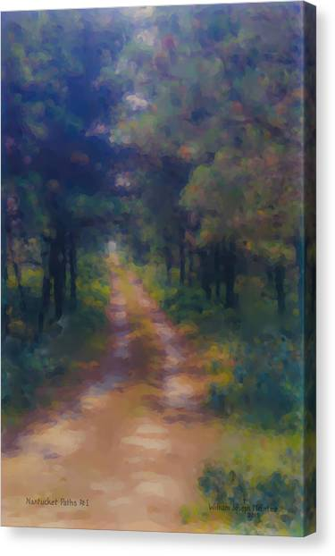 Nantucket Paths #1 Canvas Print